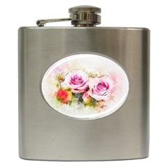 Flower Roses Art Abstract Hip Flask (6 Oz) by Celenk