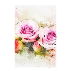Flower Roses Art Abstract Shower Curtain 48  X 72  (small)  by Celenk