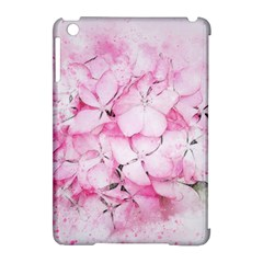 Flower Pink Art Abstract Nature Apple Ipad Mini Hardshell Case (compatible With Smart Cover) by Celenk