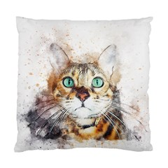 Cat Animal Art Abstract Watercolor Standard Cushion Case (one Side) by Celenk