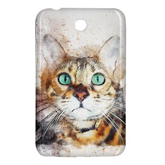 Cat Animal Art Abstract Watercolor Samsung Galaxy Tab 3 (7 ) P3200 Hardshell Case  by Celenk