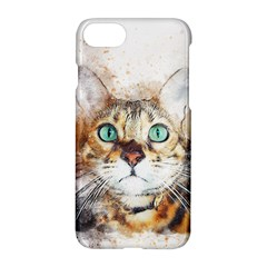 Cat Animal Art Abstract Watercolor Apple Iphone 8 Hardshell Case by Celenk