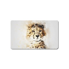 Leopard Animal Art Abstract Magnet (name Card) by Celenk