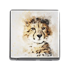 Leopard Animal Art Abstract Memory Card Reader (square) by Celenk
