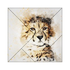 Leopard Animal Art Abstract Acrylic Tangram Puzzle (6  X 6 ) by Celenk