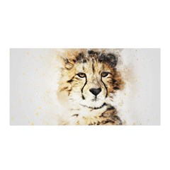 Leopard Animal Art Abstract Satin Wrap by Celenk