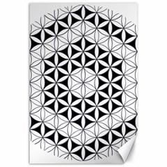 Hexagon Cube 2 Canvas 24  X 36  by Cveti