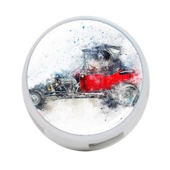 Car Old Car Art Abstract 4 Port Usb Hub (two Sides)  by Celenk