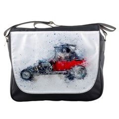 Car Old Car Art Abstract Messenger Bags by Celenk