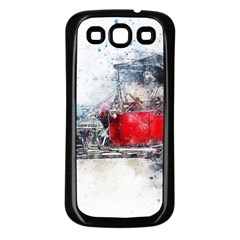 Car Old Car Art Abstract Samsung Galaxy S3 Back Case (black) by Celenk