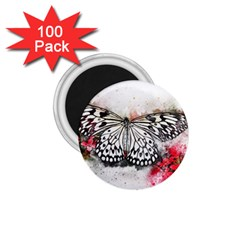 Butterfly Animal Insect Art 1 75  Magnets (100 Pack)  by Celenk