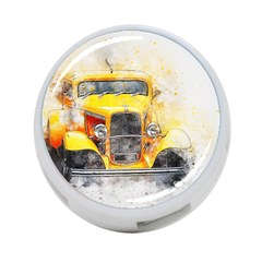 Car Old Art Abstract 4 Port Usb Hub (one Side) by Celenk