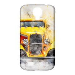 Car Old Art Abstract Samsung Galaxy S4 Classic Hardshell Case (pc+silicone) by Celenk