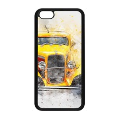 Car Old Art Abstract Apple Iphone 5c Seamless Case (black) by Celenk