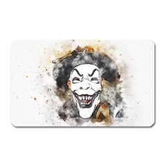 Mask Party Art Abstract Watercolor Magnet (rectangular) by Celenk