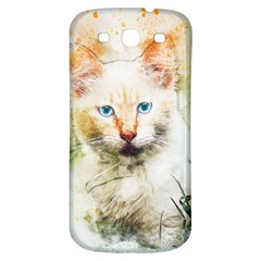 Cat Animal Art Abstract Watercolor Samsung Galaxy S3 S Iii Classic Hardshell Back Case