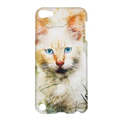 Cat Animal Art Abstract Watercolor Apple Ipod Touch 5 Hardshell Case by Celenk