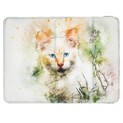 Cat Animal Art Abstract Watercolor Samsung Galaxy Tab 7  P1000 Flip Case by Celenk