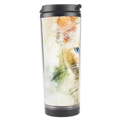 Cat Animal Art Abstract Watercolor Travel Tumbler by Celenk