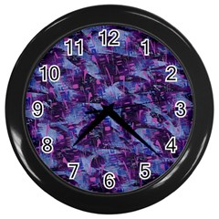 Techno Grunge Punk Wall Clocks (black) by KirstenStar