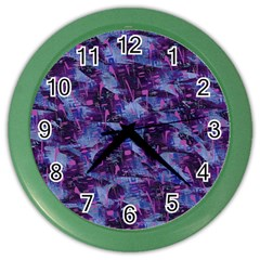 Techno Grunge Punk Color Wall Clocks