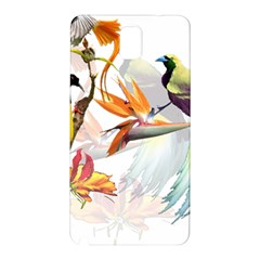Exotic Birds Of Paradise And Flowers Watercolor Samsung Galaxy Note 3 N9005 Hardshell Back Case by TKKdesignsCo