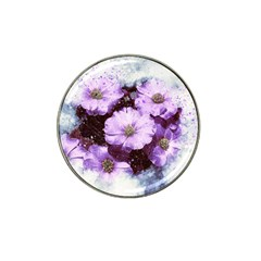 Flowers Purple Nature Art Abstract Hat Clip Ball Marker (10 Pack) by Celenk