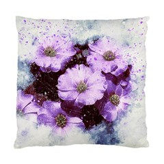 Flowers Purple Nature Art Abstract Standard Cushion Case (one Side) by Celenk