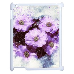 Flowers Purple Nature Art Abstract Apple Ipad 2 Case (white) by Celenk