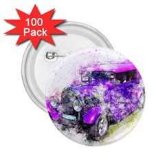Car Old Car Art Abstract 2 25  Buttons (100 Pack)  by Celenk