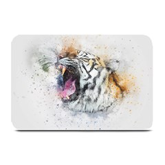 Tiger Roar Animal Art Abstract Plate Mats by Celenk