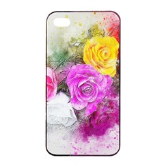 Flowers Bouquet Art Abstract Apple Iphone 4/4s Seamless Case (black) by Celenk