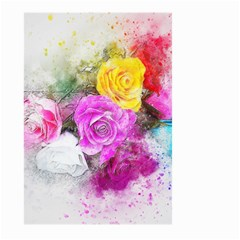 Flowers Bouquet Art Abstract Large Garden Flag (two Sides) by Celenk