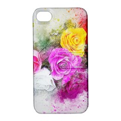 Flowers Bouquet Art Abstract Apple Iphone 4/4s Hardshell Case With Stand by Celenk