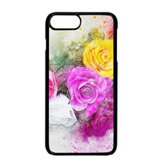 Flowers Bouquet Art Abstract Apple Iphone 8 Plus Seamless Case (black) by Celenk