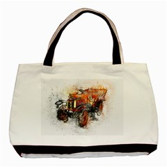 Car Old Car Art Abstract Basic Tote Bag by Celenk