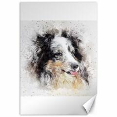 Dog Shetland Pet Art Abstract Canvas 12  X 18
