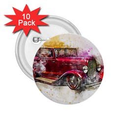 Car Old Car Art Abstract 2 25  Buttons (10 Pack)  by Celenk