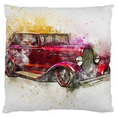Car Old Car Art Abstract Large Flano Cushion Case (two Sides) by Celenk
