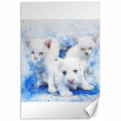 Dog Cats Pet Art Abstract Canvas 20  X 30   by Celenk
