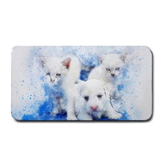 Dog Cats Pet Art Abstract Medium Bar Mats by Celenk