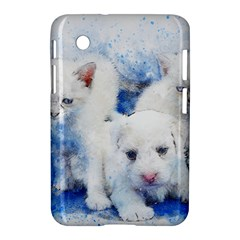 Dog Cats Pet Art Abstract Samsung Galaxy Tab 2 (7 ) P3100 Hardshell Case  by Celenk