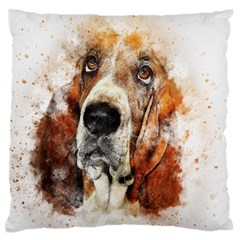 Dog Basset Pet Art Abstract Standard Flano Cushion Case (one Side) by Celenk