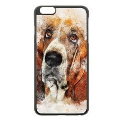 Dog Basset Pet Art Abstract Apple Iphone 6 Plus/6s Plus Black Enamel Case by Celenk
