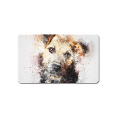 Dog Animal Pet Art Abstract Magnet (name Card) by Celenk