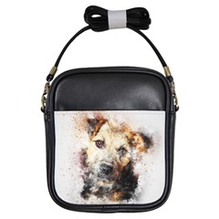 Dog Animal Pet Art Abstract Girls Sling Bags by Celenk