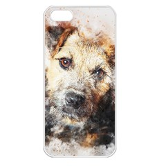Dog Animal Pet Art Abstract Apple Iphone 5 Seamless Case (white) by Celenk
