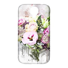 Flowers Bouquet Art Abstract Samsung Galaxy S4 Classic Hardshell Case (pc+silicone) by Celenk