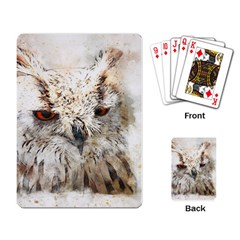 Bird Owl Animal Art Abstract Playing Card by Celenk