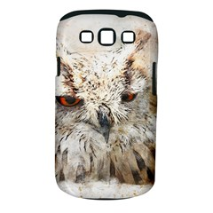 Bird Owl Animal Art Abstract Samsung Galaxy S Iii Classic Hardshell Case (pc+silicone)